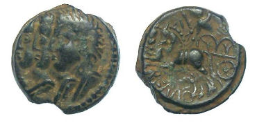 Celtic, Gaul. Remi Tribe. mid 1st centry BC. AE 15. Very nice example.