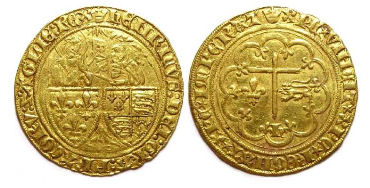 Anglo-Gallic. Henry VI, AD 1422 to 1453. Gold Salut d'or.